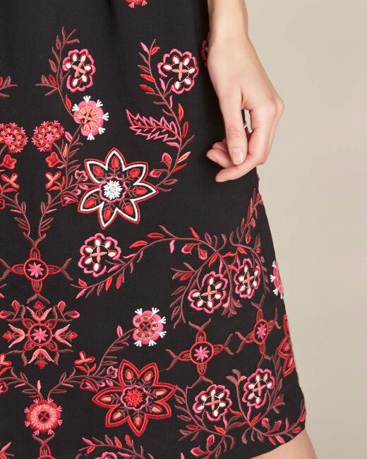 Pavlova mid-length black embroidered dress (1) - 1-2-3