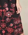 Robe noire brodée mi-longue Pavlova (1) - 1-2-3