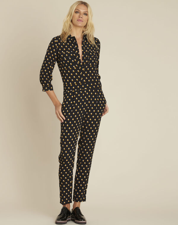 Dominique black polka dot jumpsuit (1) - 1-2-3
