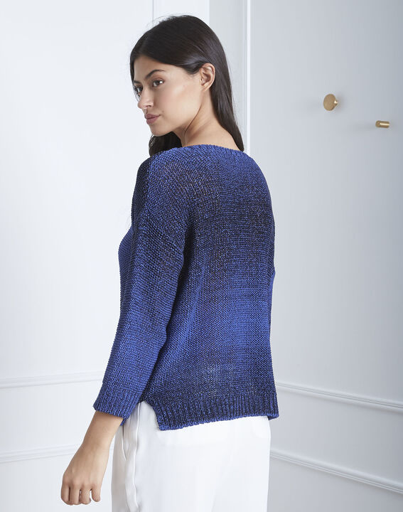 Pull bleu ajouré Avril (4) - Maison 123