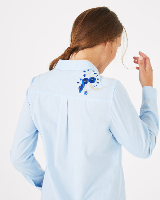Dave shirt with embroidered flowers (1) - 1-2-3