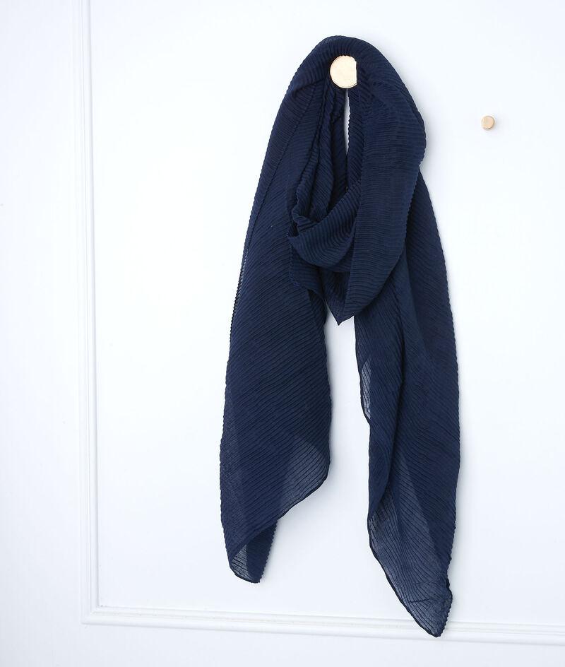 Grand foulard plissé marine Paloma PhotoZ | 1-2-3