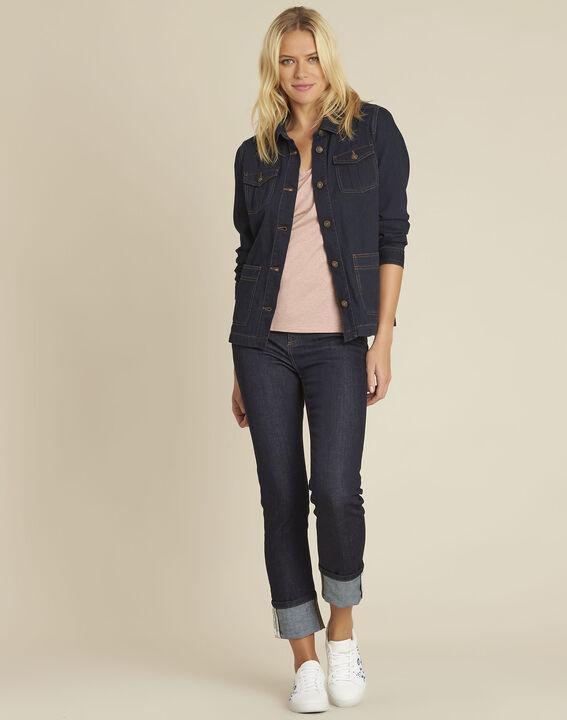Veste en jean poches plaquées en coton Smile (2) - 1-2-3
