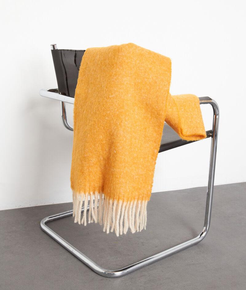Echarpe épaisse à franges jaune Presley PhotoZ | 1-2-3