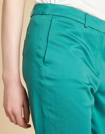 Rubis blue tapered trousers light emerald.
