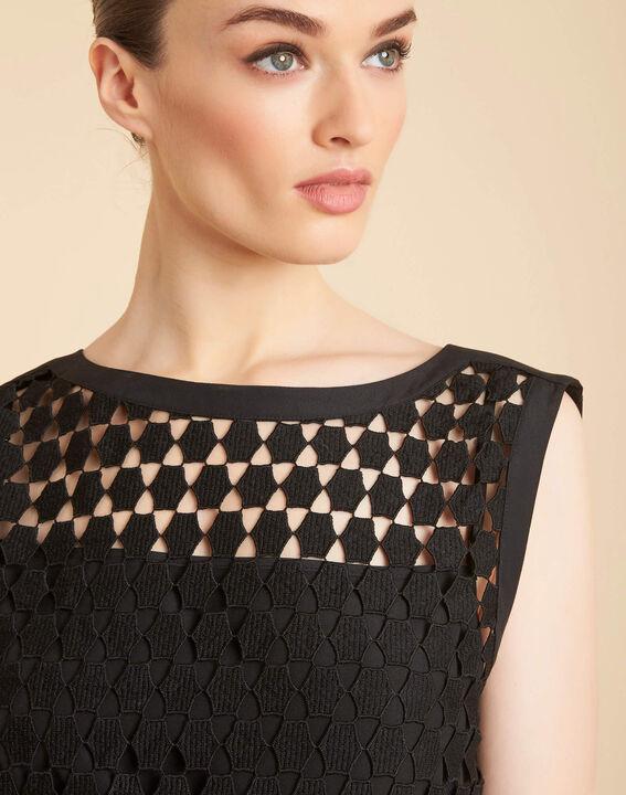 Guimauve black lace openwork top PhotoZ   1-2-3