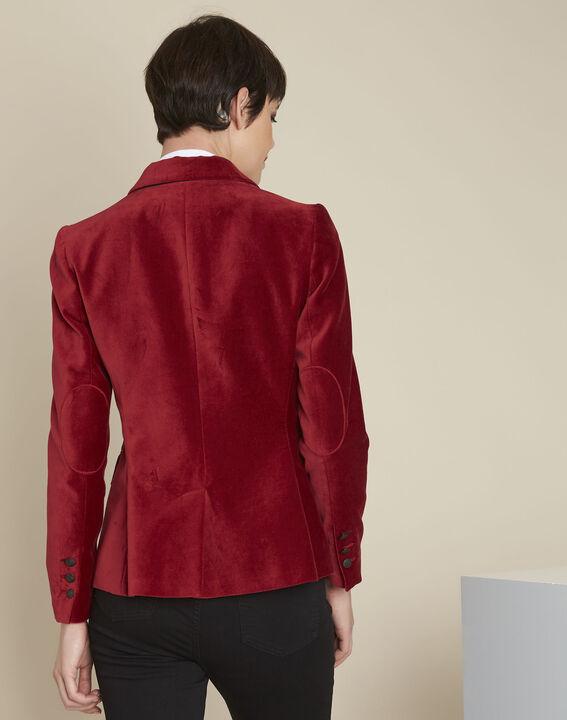 Veste rouge en velours Silvana (4) - 1-2-3