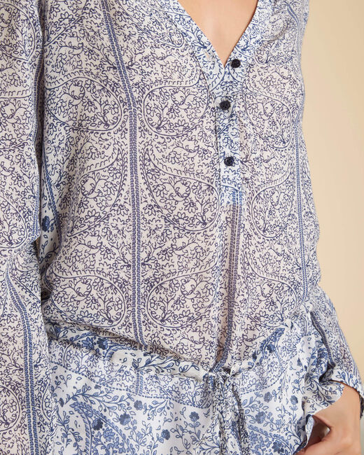 Leondine blue printed blouse (2) - 1-2-3