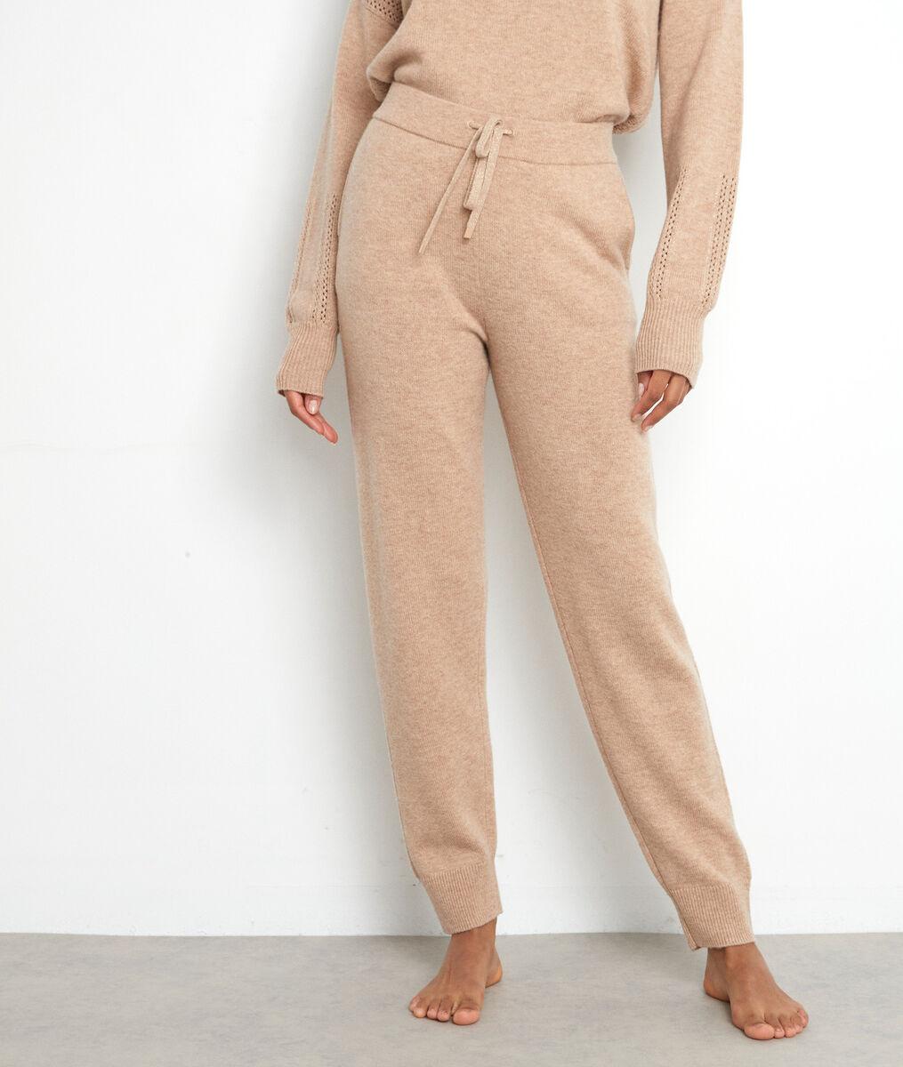 Pantalon en maille beige Tosca  PhotoZ   1-2-3