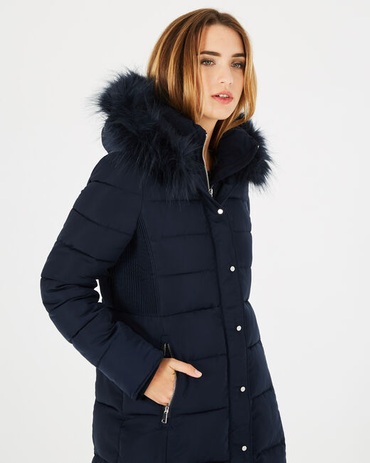 Lisa mid-length navy blue puffer jacket (1) - 1-2-3