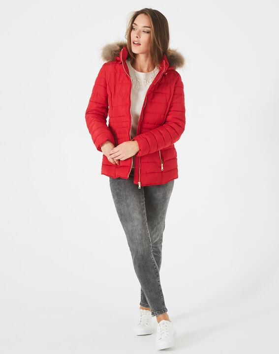 Doudoune rouge courte à capuche Rosie PhotoZ   1-2-3