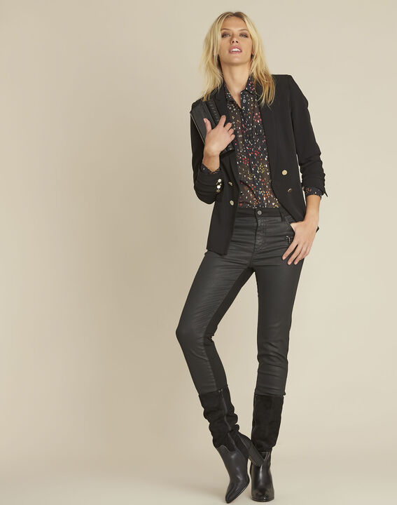 Corentine black printed blouse (2) - 1-2-3