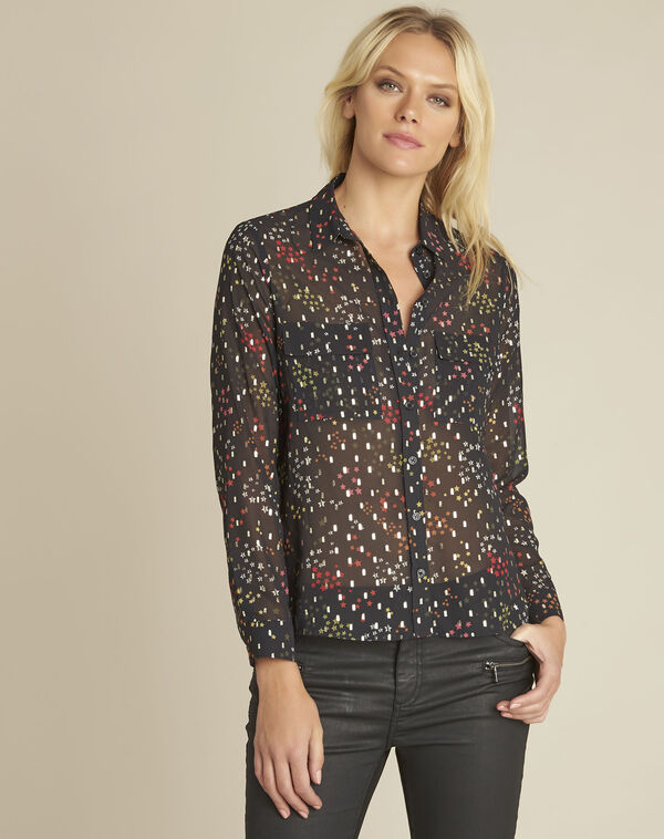 Corentine black printed blouse (1) - 1-2-3