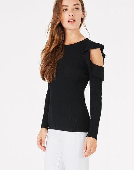 Paule black off-the-shoulder sweater PhotoZ | 1-2-3