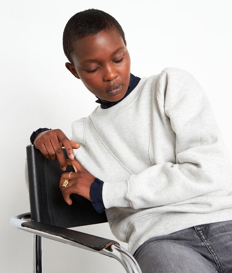 Grijs katoenen sweater met structuur Emir PhotoZ   1-2-3