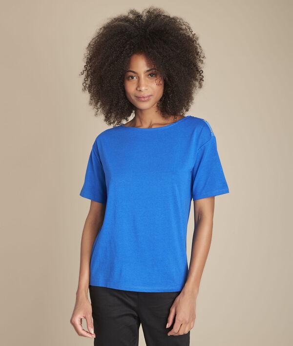 Tee-shirt bleu col bateau Calvi PhotoZ | 1-2-3