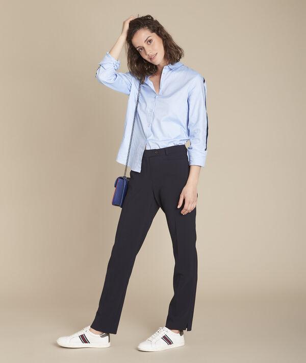 Pantalon de tailleur marine à pinces Valero PhotoZ | 1-2-3