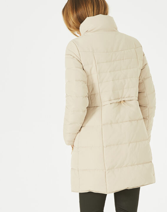 Lise mid-length cream puffer jacket (5) - 1-2-3
