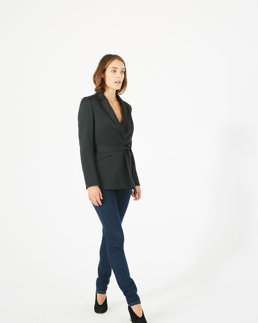 Marina black belted jacket (1) - 1-2-3