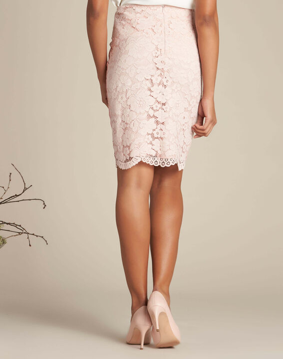 Lantana nude straight-cut skirt in lace (4) - 1-2-3