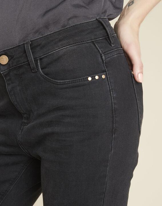 Vendôme 7/8 length black faded-look jeans (3) - 1-2-3