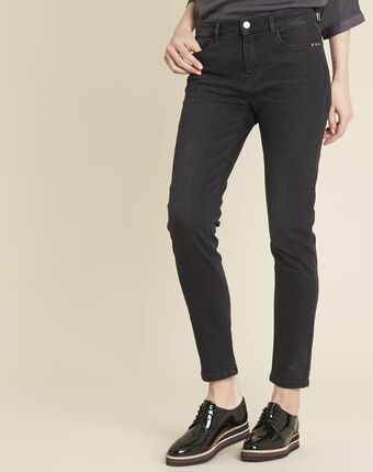 Vendôme 7/8 length black faded-look jeans black.