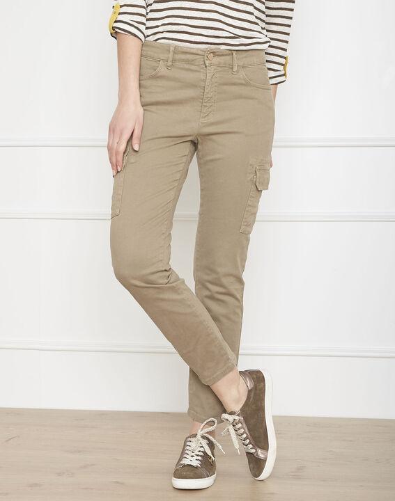 Pantalon kaki cargo Carolina (1) - Maison 123