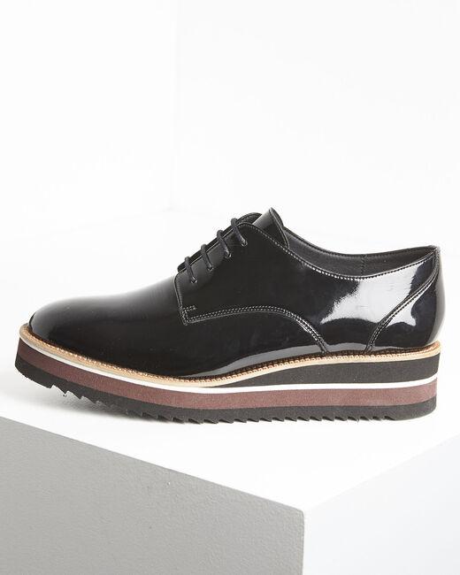 Ludivine black patent leather platform Derbies (2) - 1-2-3