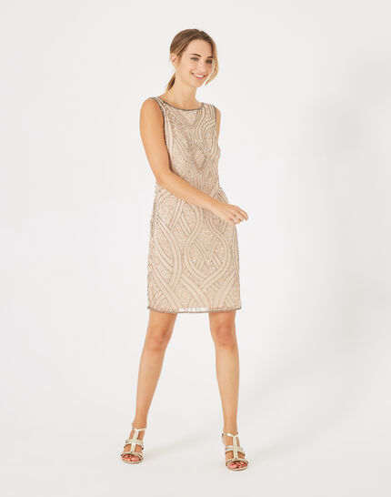 Floride nude embroidered dress PhotoZ | 1-2-3