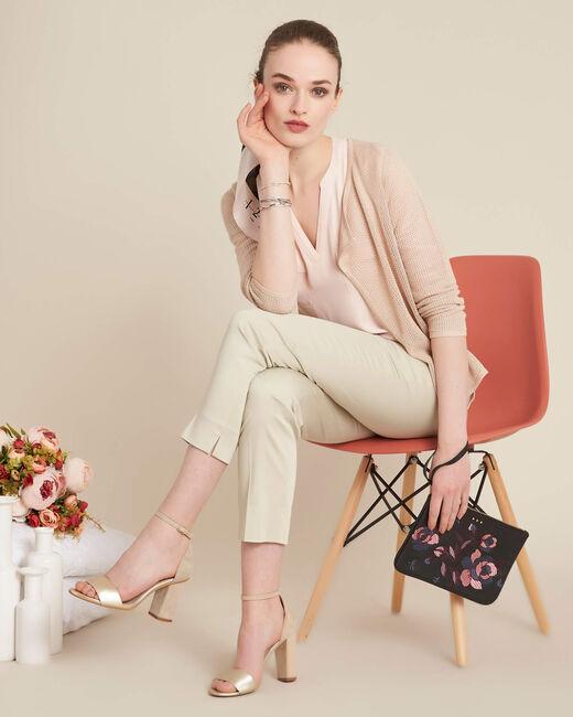 Noisette fine-knit golden cardigan (1) - 1-2-3