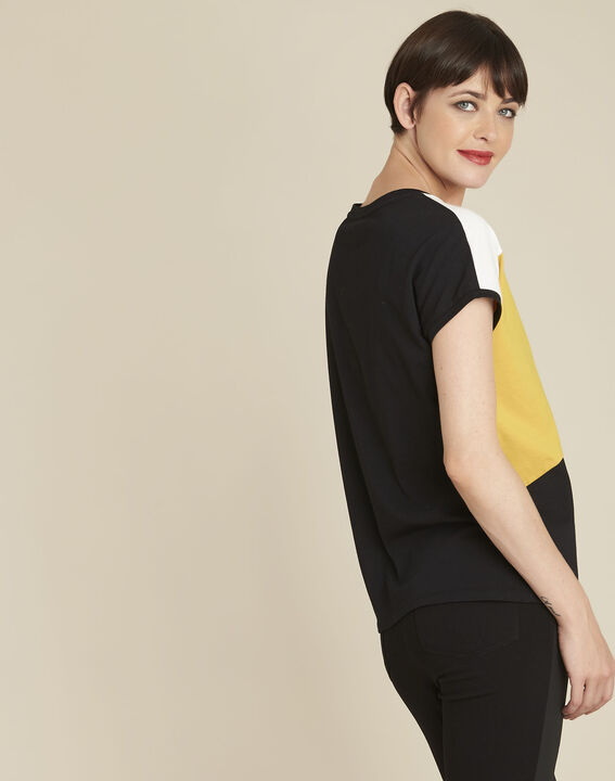 Tee-shirt jaune colorblock Garvine (4) - 1-2-3