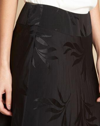 Schwarzer rock mit blätterprint frost schwarz.