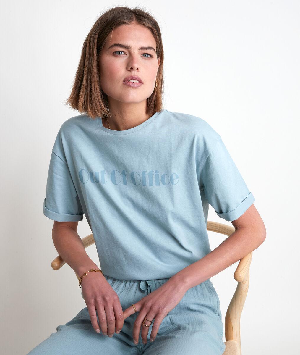 Tee-shirt en coton céladon Icocoon PhotoZ | 1-2-3