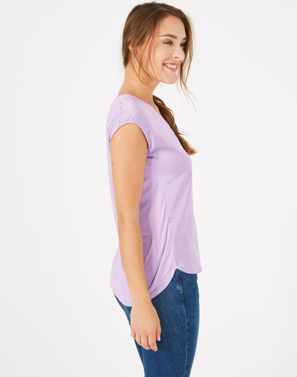 Tee-shirt lilas Blanche (5) - 1-2-3