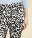Douglas navy blue tapered trousers with print PhotoZ | 1-2-3