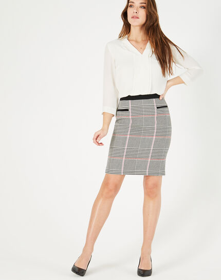Filao black and white check skirt (2) - 1-2-3