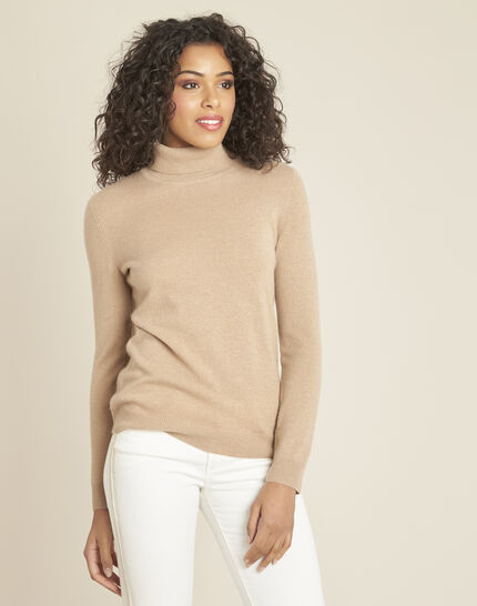 Perceneige camel polo-neck cashmere sweater (1) - 1-2-3