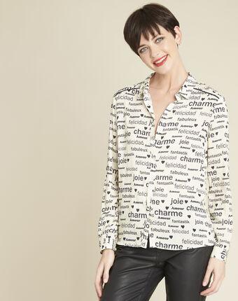 Chemise blanche imprimée ravel blanc.