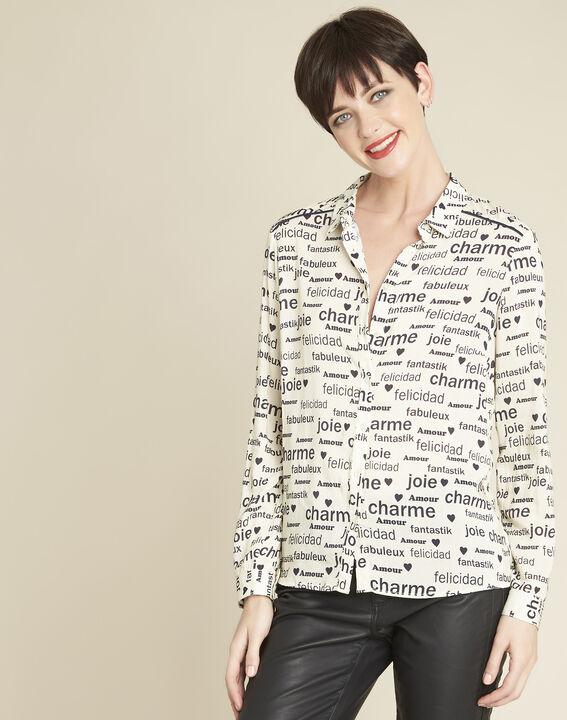 Chemise blanche imprimée ravel