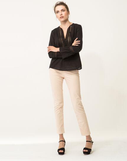 Edelys black cotton blouse (3) - 1-2-3