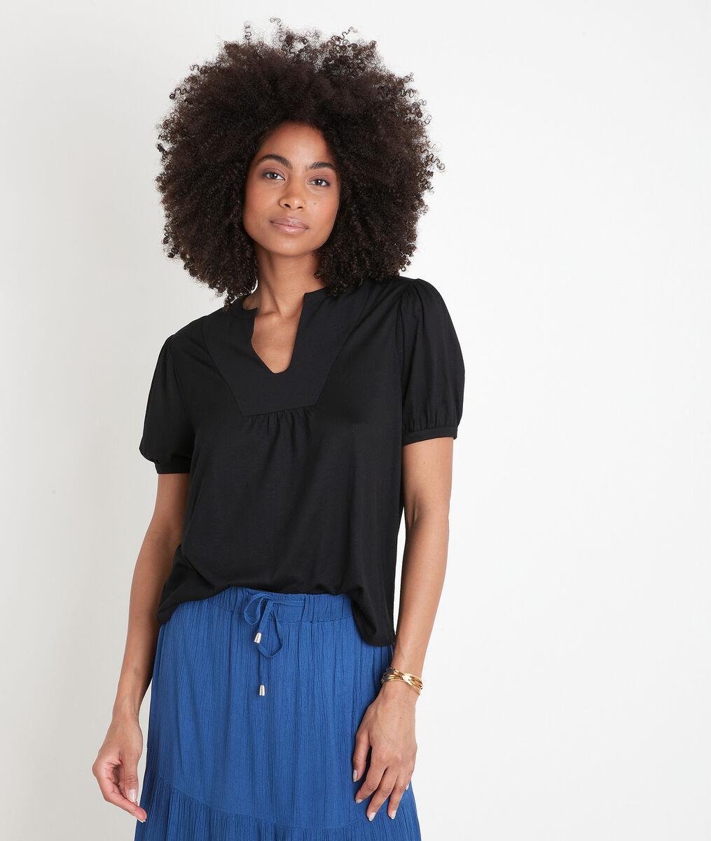 Tee-shirt à manches ballons noir Eden PhotoZ   1-2-3