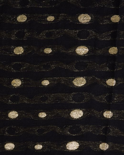 Echarpe noire à pois dorés Erika (1) - 1-2-3