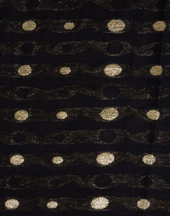 Echarpe noire à pois dorés Erika (2) - 1-2-3