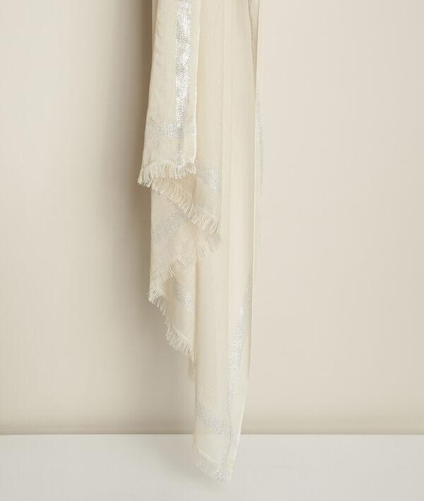 Foulard ivoire lurex Orelia PhotoZ | 1-2-3