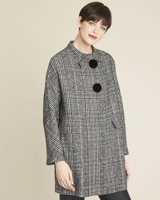 Manteau à carreaux boutons contrastés Elora (2) - 1-2-3