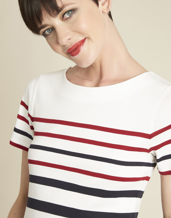 Gasayat stripy T-shirt with rounded neckline (3) - 1-2-3