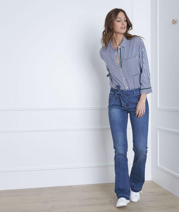 Ausgestellte indigo Jeans mit Gürtel Coralie PhotoZ | 1-2-3