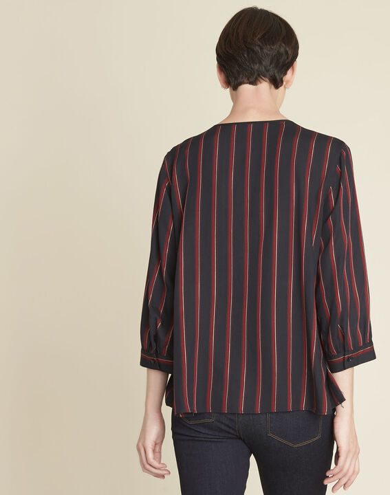 Cristabelle red striped blouse (4) - 1-2-3