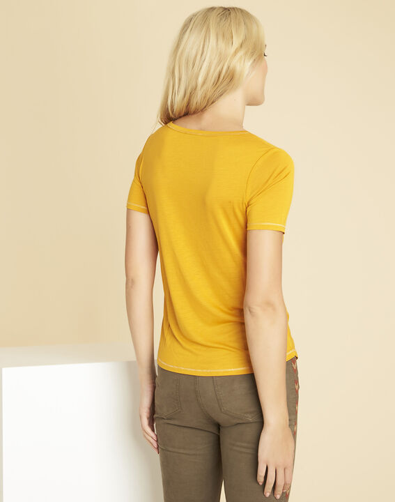 Glycel yellow T-shirt with golden threading (4) - 1-2-3