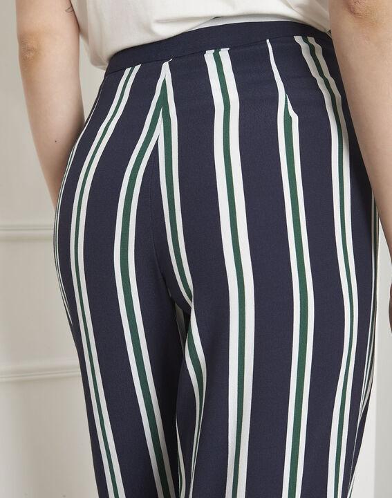 Pantalon marine rayé Griffon (4) - Maison 123